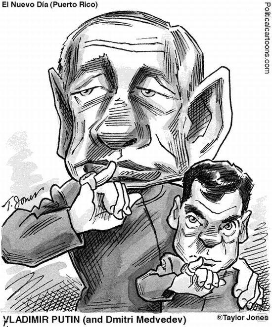 Иностранные карикатуры на Путина (19 фото)