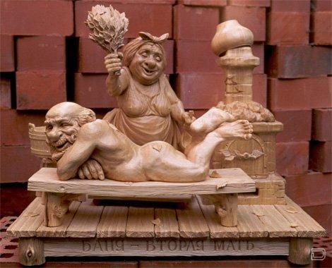 Скульптуры из дерева -