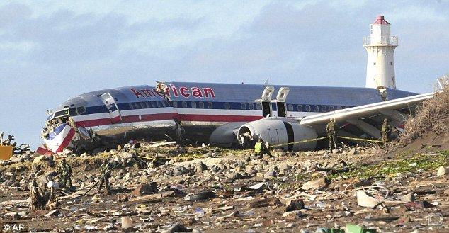 Неудачная посадка самолета