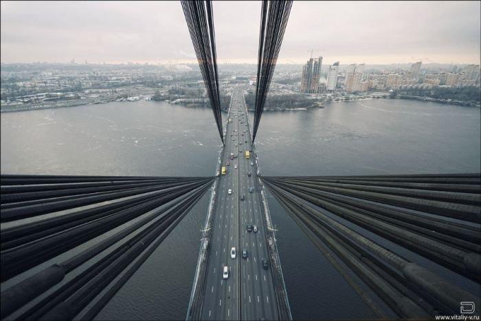 Московский мост - один из главных мостов Киева (19 фото)