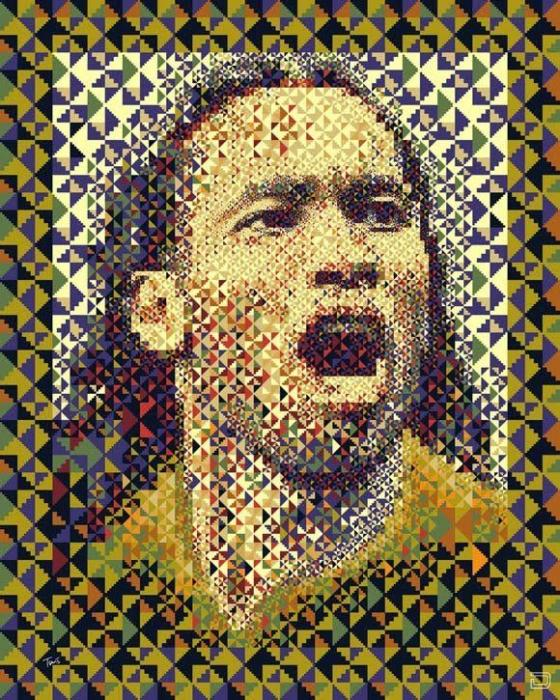 Иллюстрации в виде мозаики (24 фото)
