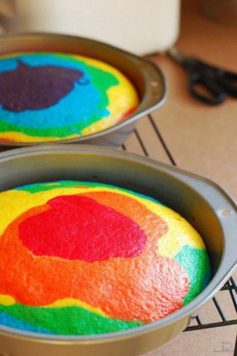 Как сделать торт-радуга
