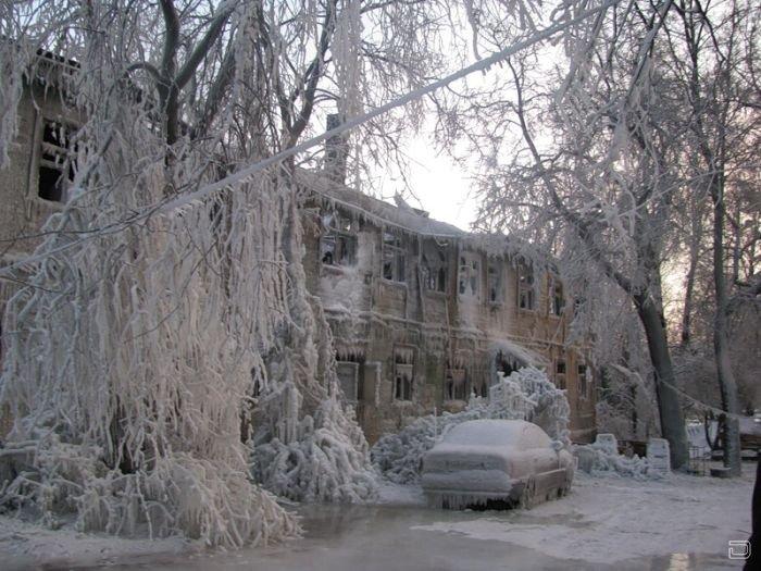 В Москве сгорел легендарный деревянный дом,