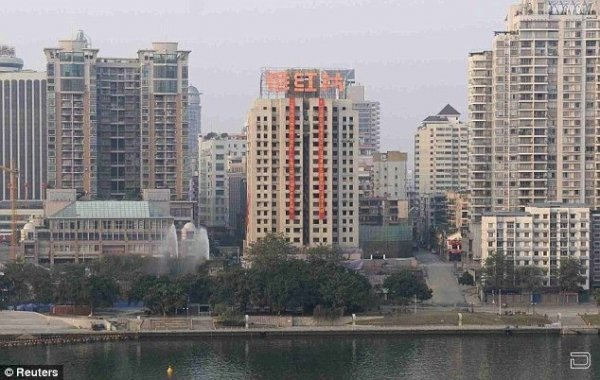 Снос башни в Китае