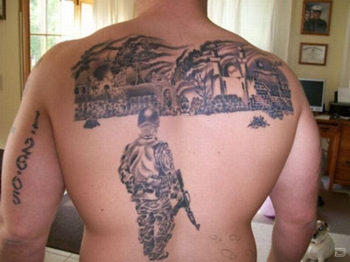 Армейские татуировки (30 фото)