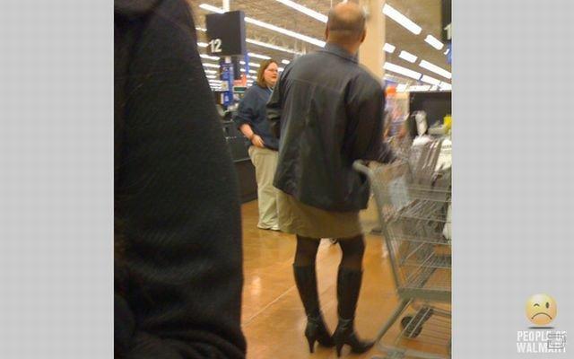 Смешные люди из американских супермаркетов сети Wal-Mart