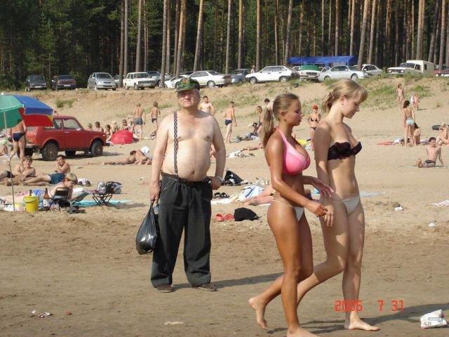 Смешные и забавные ситуации на пляжах