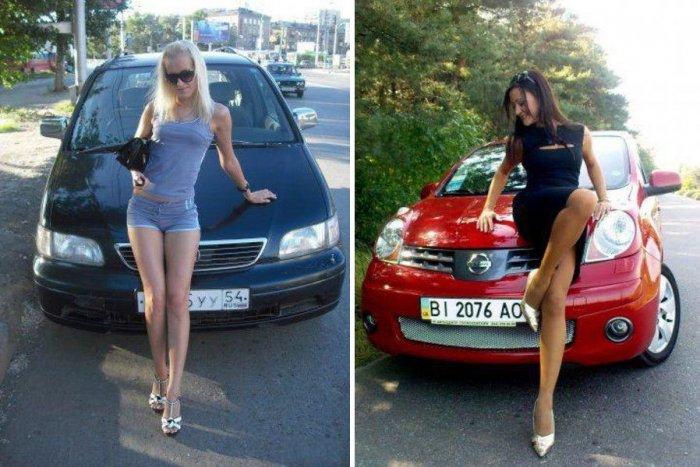 Девушки и авто, из России и Украины (55 фото)