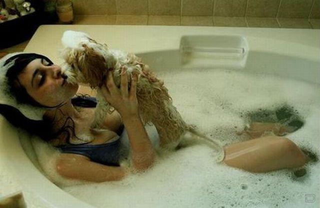 фото купние под душем