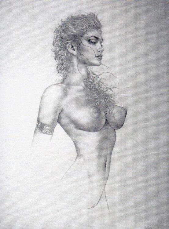 рисунки голые женщины
