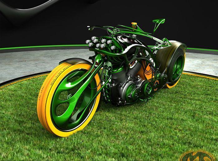 Подборка крутых концептуальных мотоциклов (29 фото)