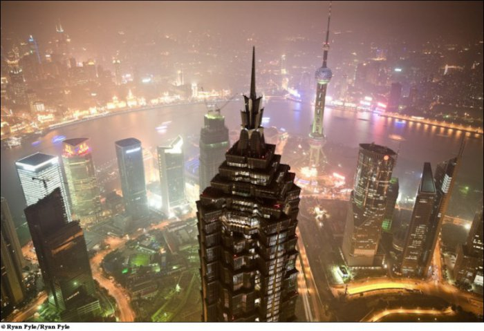 Строительство всемирного финансового центра в Шанхае