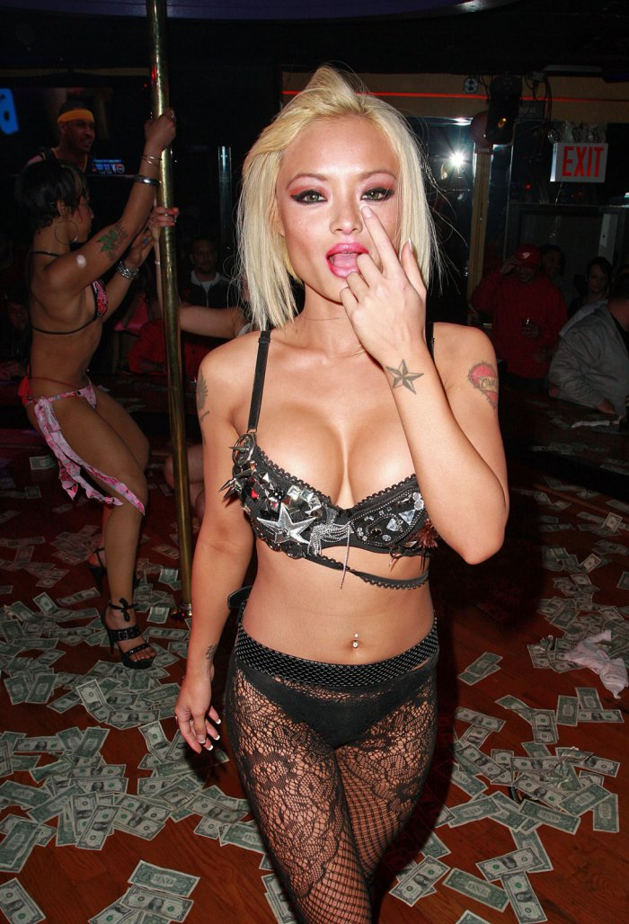 miley cyrus pole dancing stripping. tila tequila pole dancing
