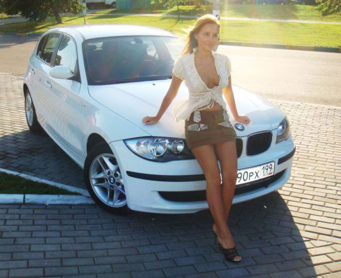 Русские красавицы и их автомобили (46 фото)