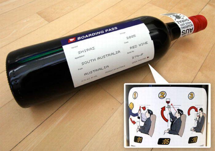 Креативные бутылки вина и этикетки (30 фото)