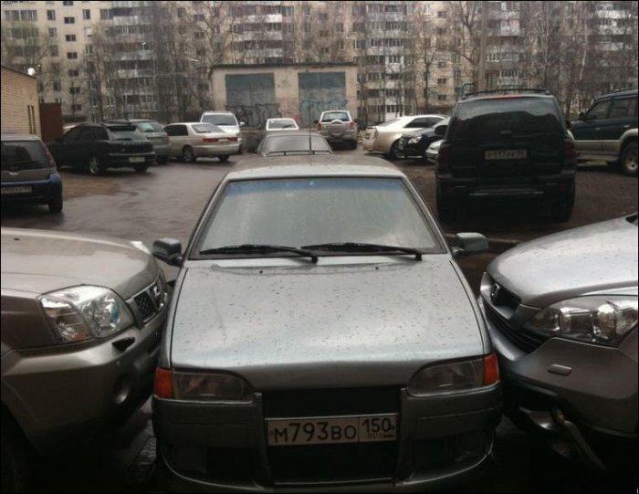 Наказали за идиотскую парковку