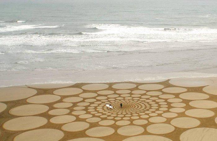 Удивительные узоры на песке