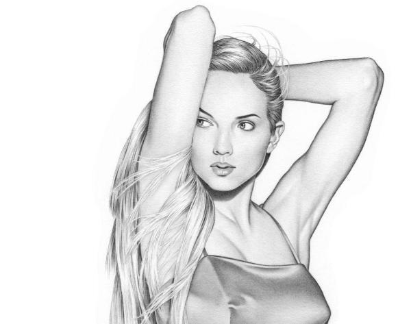 Очень красиво нарисованные девушки простым карандашом