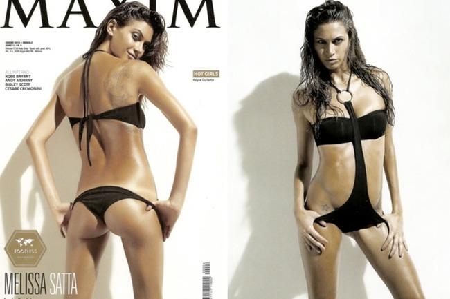 Melissa Satta в журналах Maxim Italia и Sports Illustrated (24 фото)