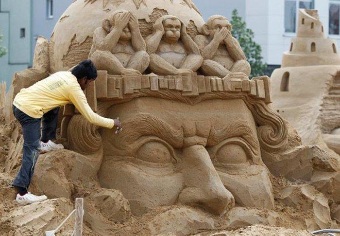 В Берлине пройдет фестиваль скульптур из песка