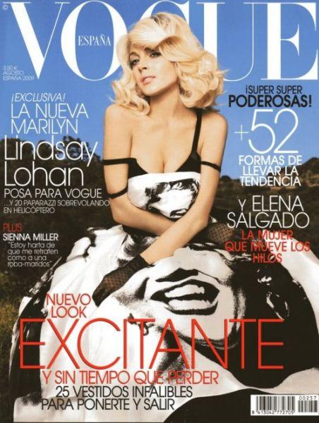 Фотосессия Линдси Лохан для журнала Vogue