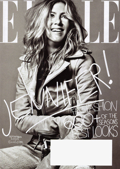 Jennifer Aniston на обложке Elle US