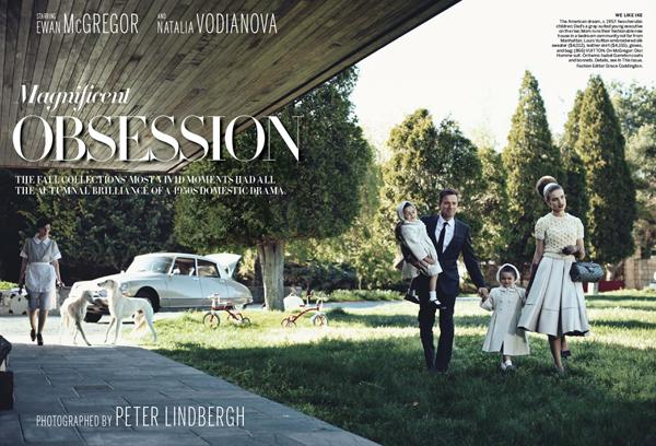 Наталья Водянова и Эван МакГрегор в Vogue US