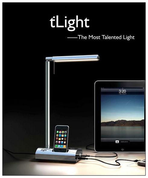 t'Light - зарядное устройство в лампе (8 фото)