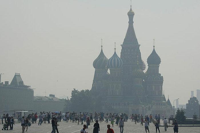 Задымленная Москва (11 фото)