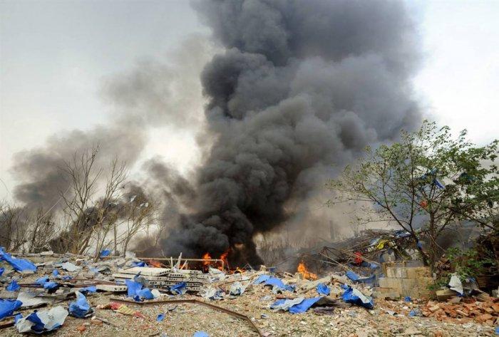 Взрыв на химическом заводе в китайском городе Нанкин