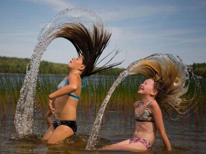 Фото волосы из воды как сделать