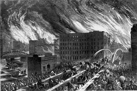 Великий Чикагский пожар (8 фото)