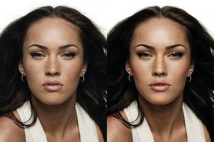 Знаменитости до и после макияжа 51