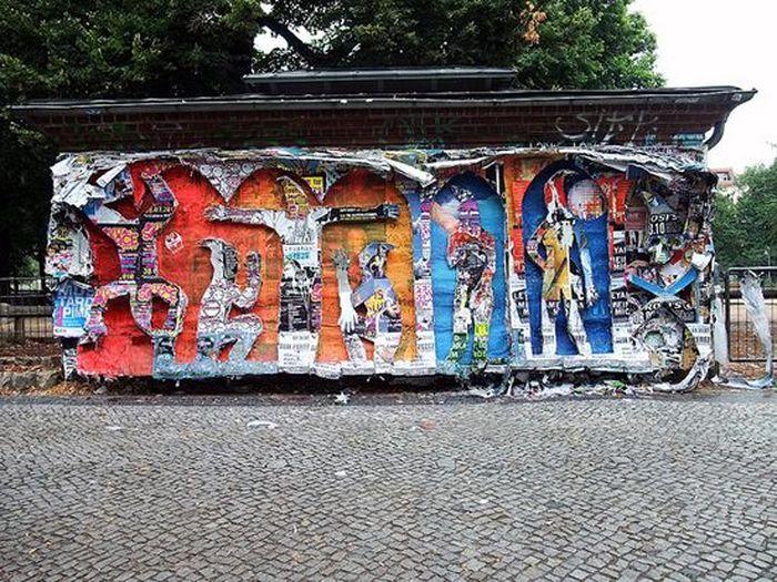 Креативный постер уличного искусства замеченный в Берлине (6 фото)