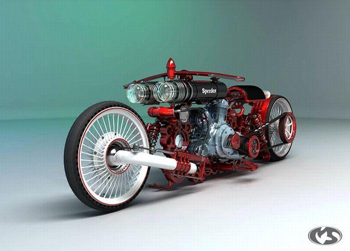 Крутые концептуальные мотоциклы (23 фото)