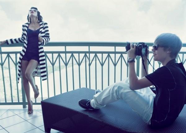 Ким Кардашьян и Джастин Бибер для Elle