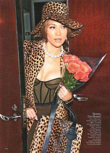 Дженнифер Лопес в журнале Glamour (9 фото)