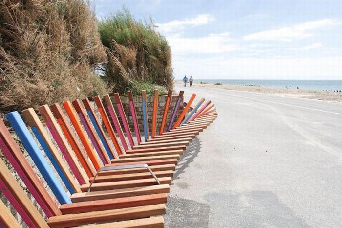 Самая длинная скамейка в мире (8 фото)