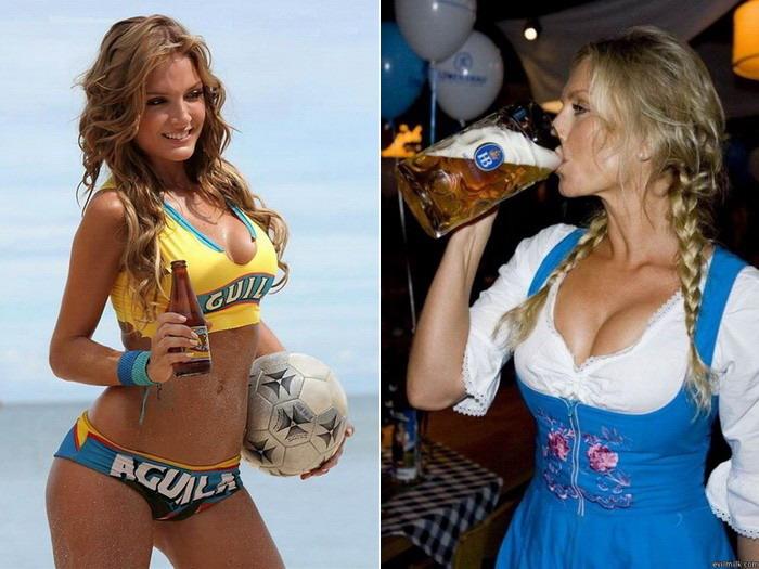 Красивые девушки и пиво (30 фото)