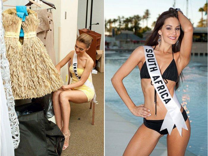 Девушки готовятся к финалу международного конкурса красоты
