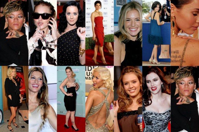 Татуировки знаменитостей (14 фото)
