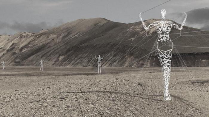 Сказочные электроопоры в Исландии (4 фото)