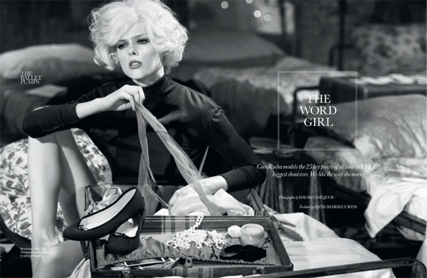 Коко Роша в октябрьском Elle UK