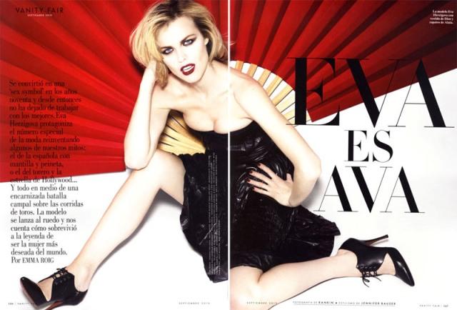 Ева Герцигова для Vanity Fair Spain