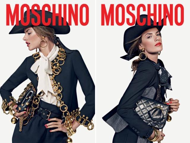 Алессандра Амбросио для бренда Moschino