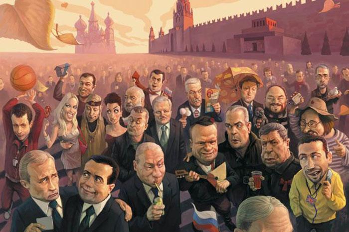 Необычные иллюстрации русских художников (40 фото)