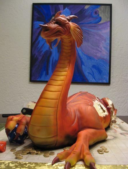 Торт - дракон (32 фото)