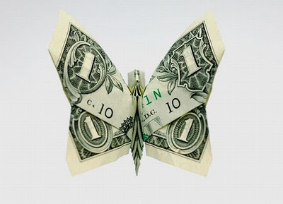 Оригами из денег (20 фото)