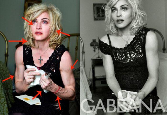 Мадонна и фотошоп (12 фото)