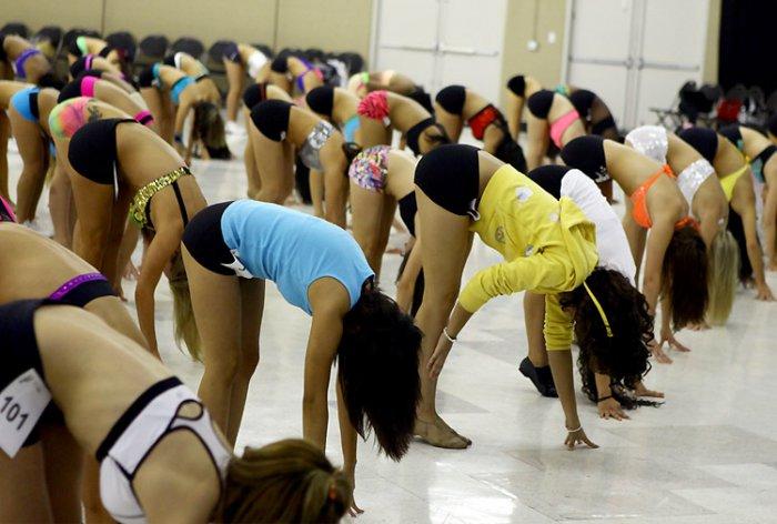 Как проходит отбор девушек в группу поддержки (30 фото)